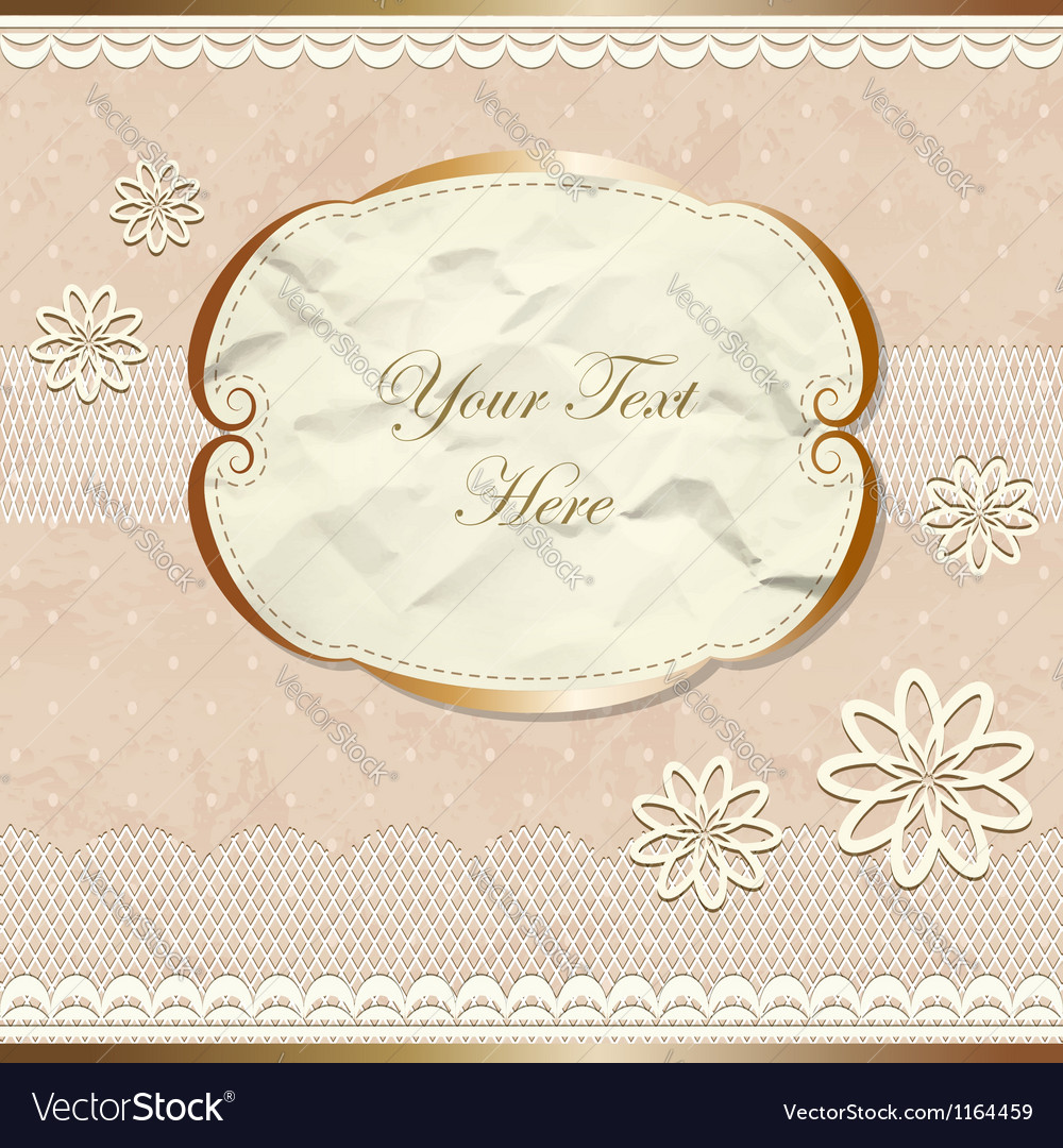 Lacy vintage border with flowers vector | Price: 1 Credit (USD $1)