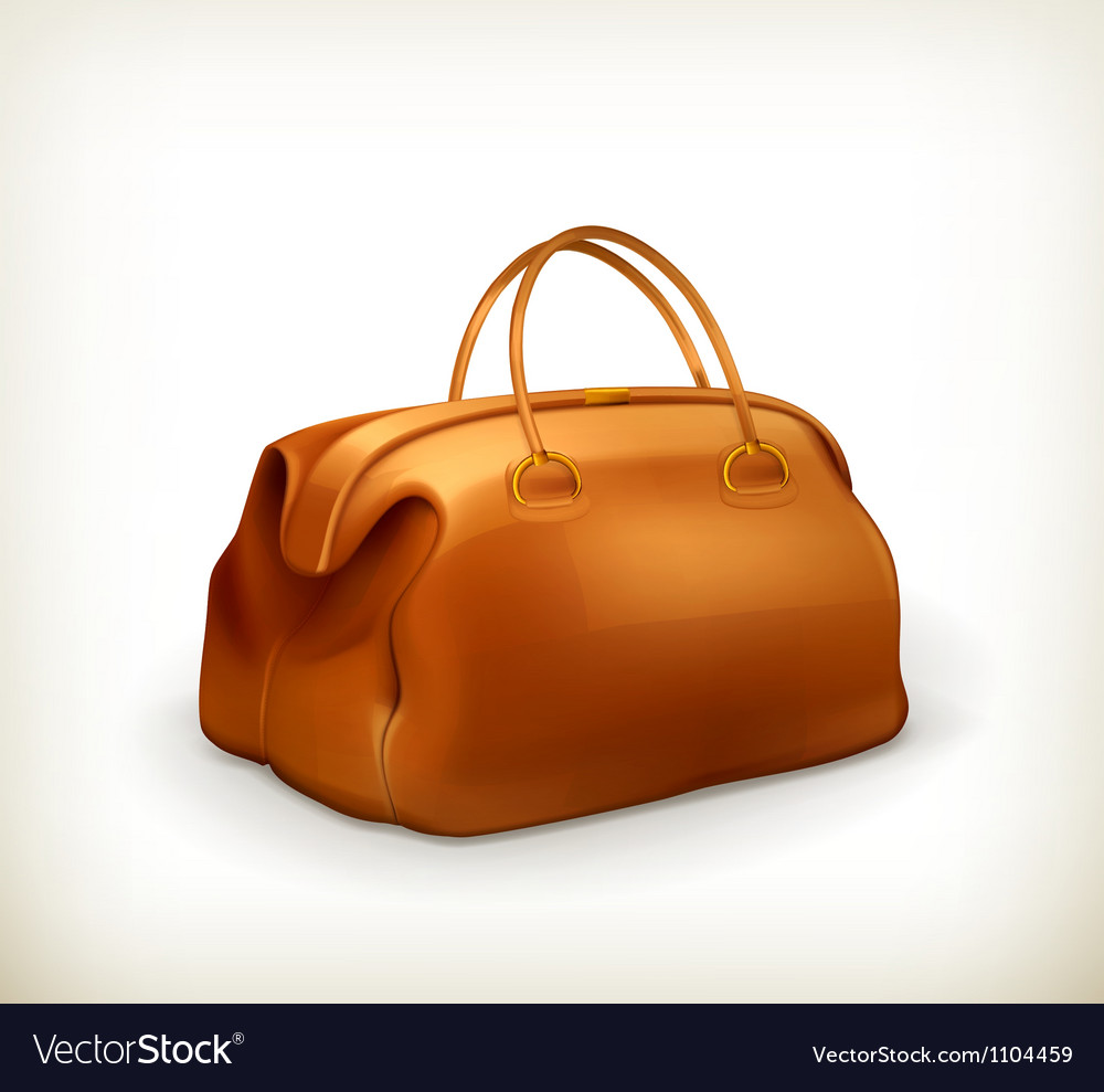 Vintage bag vector | Price: 1 Credit (USD $1)