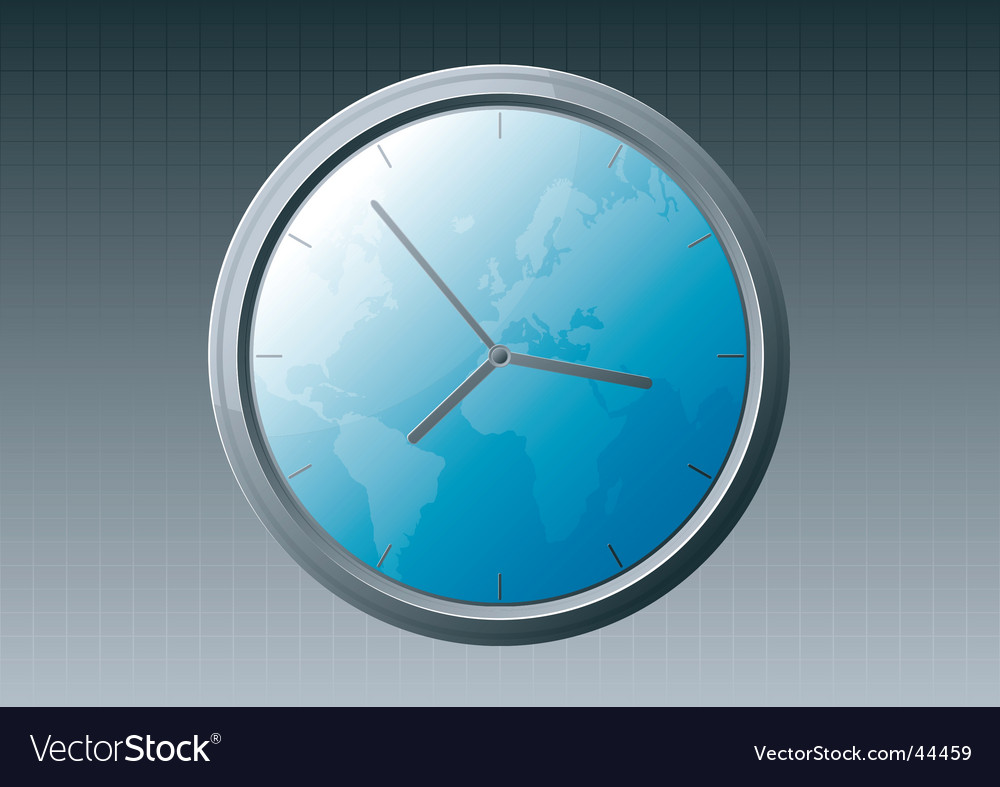 World clock vector | Price: 1 Credit (USD $1)