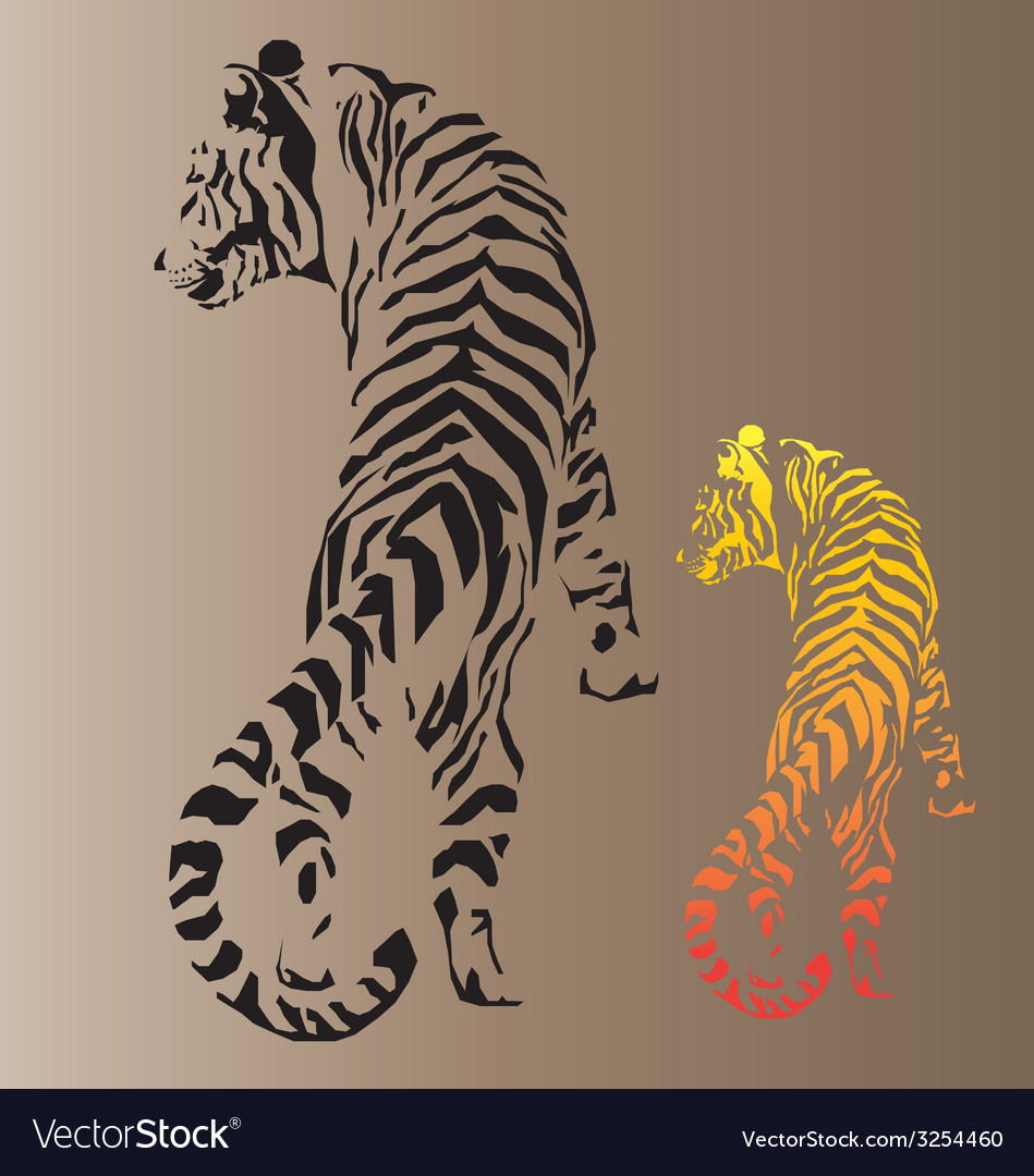 A tiger laying vector | Price: 1 Credit (USD $1)
