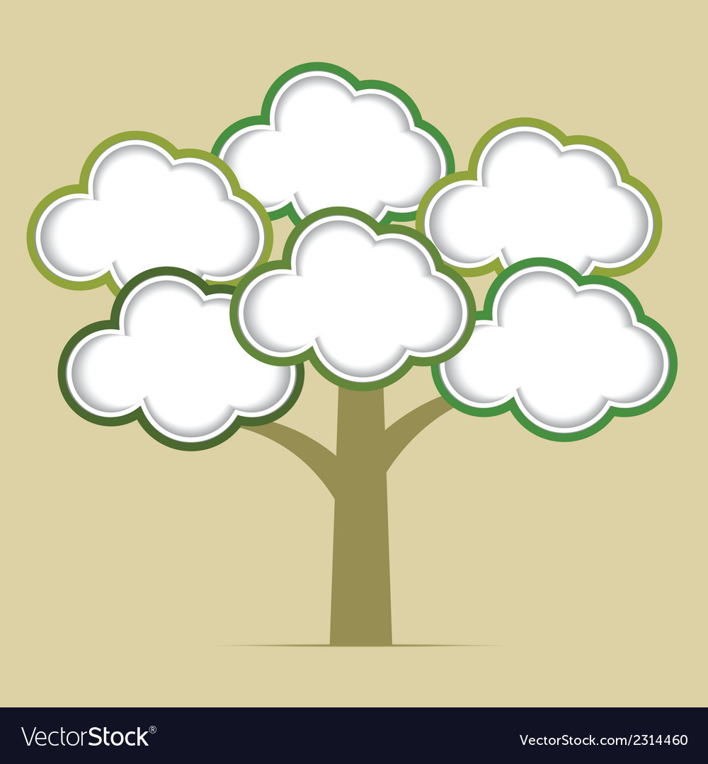 Abstract tree infographics elements vector | Price: 1 Credit (USD $1)