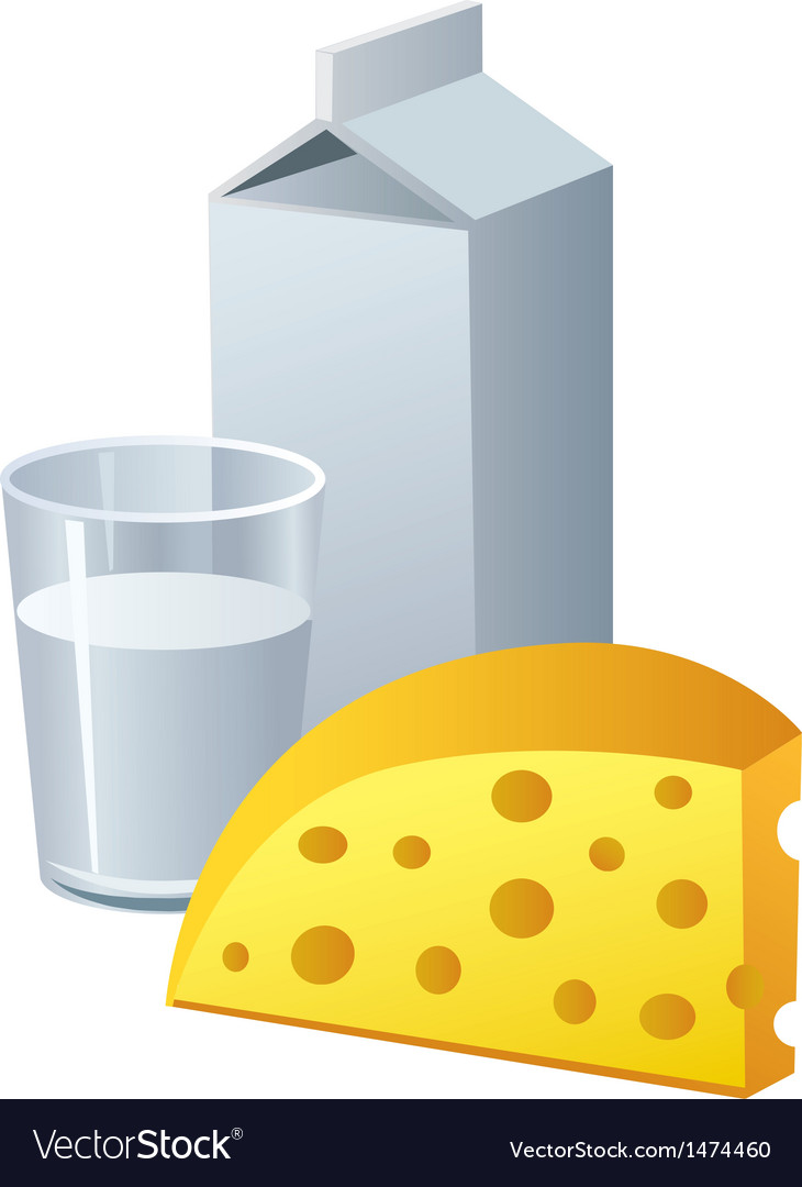 Cheese and milk vector | Price: 1 Credit (USD $1)