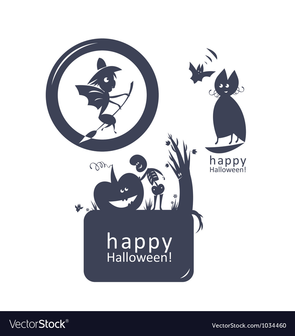 Halloween funny sign vector | Price: 1 Credit (USD $1)