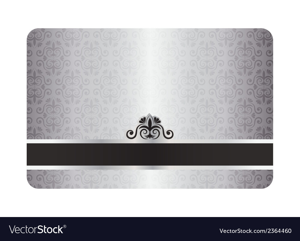 Luxury silver card with vintage pattern and black vector | Price: 1 Credit (USD $1)