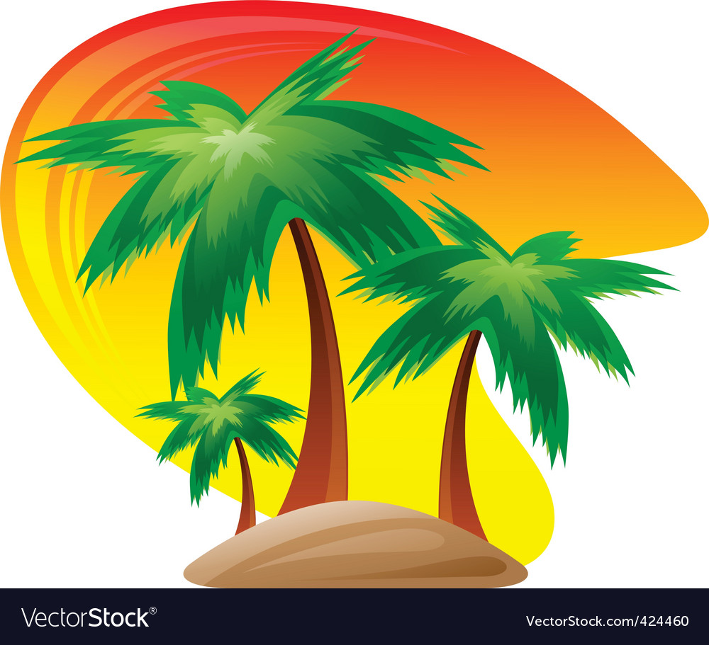 Palm island logo vector | Price: 3 Credit (USD $3)