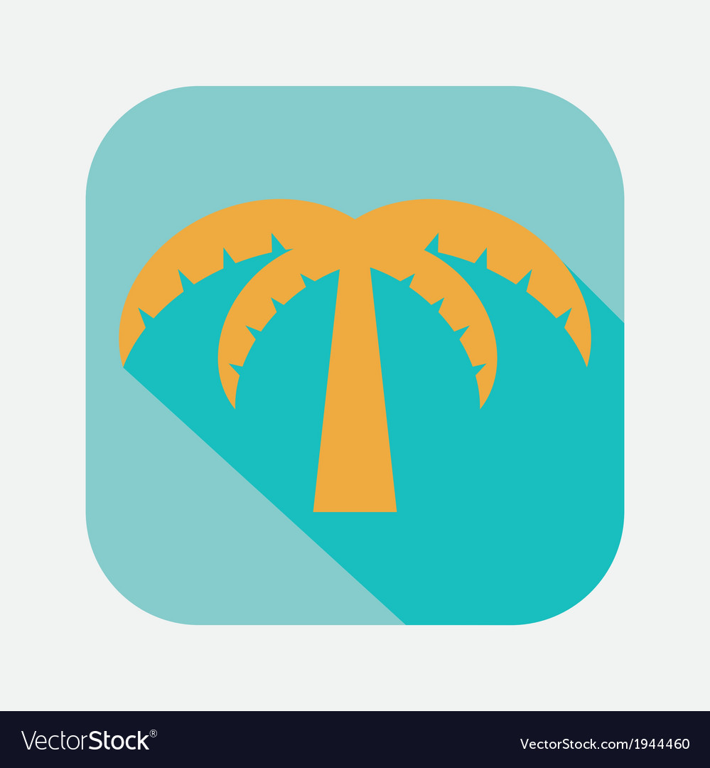 Palm tree icon vector | Price: 1 Credit (USD $1)
