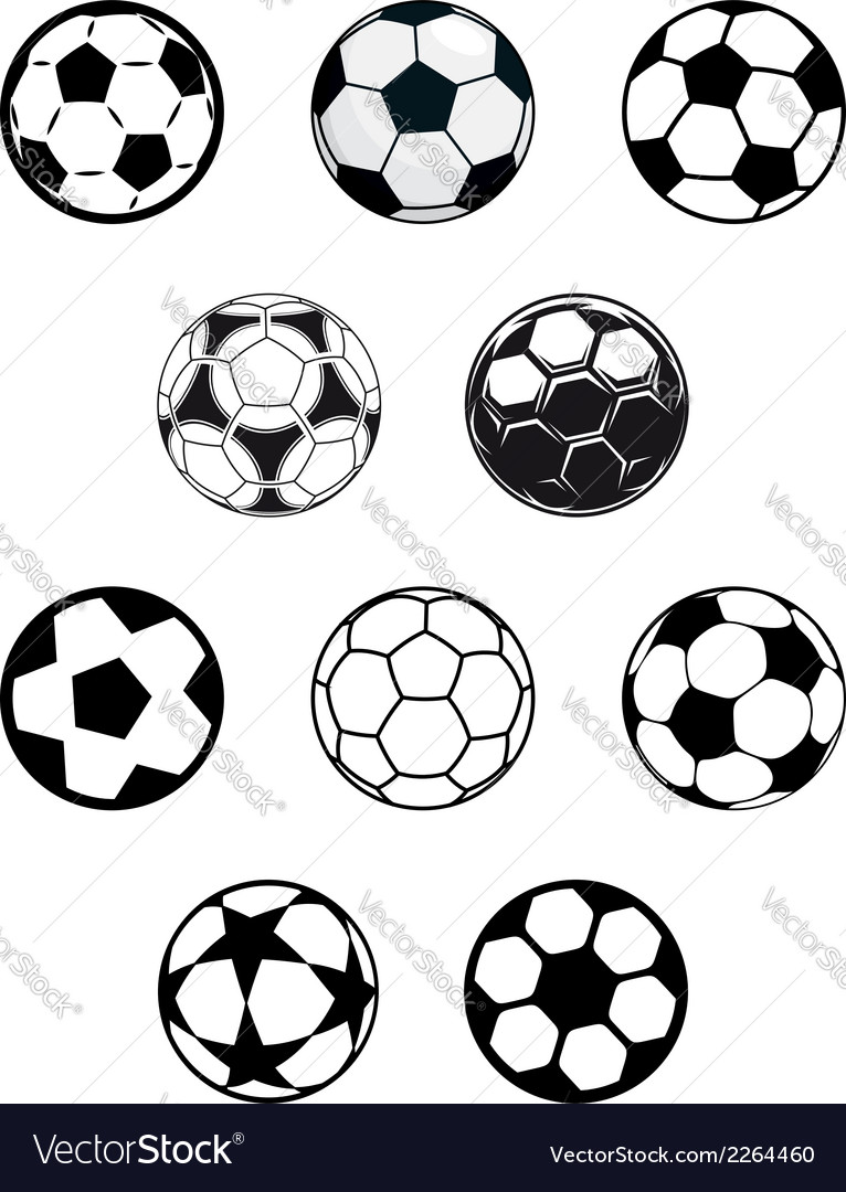 Set of soccer or football balls vector | Price: 1 Credit (USD $1)