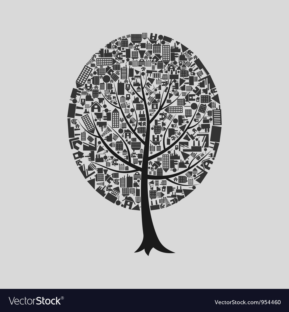 Tree the house vector | Price: 1 Credit (USD $1)