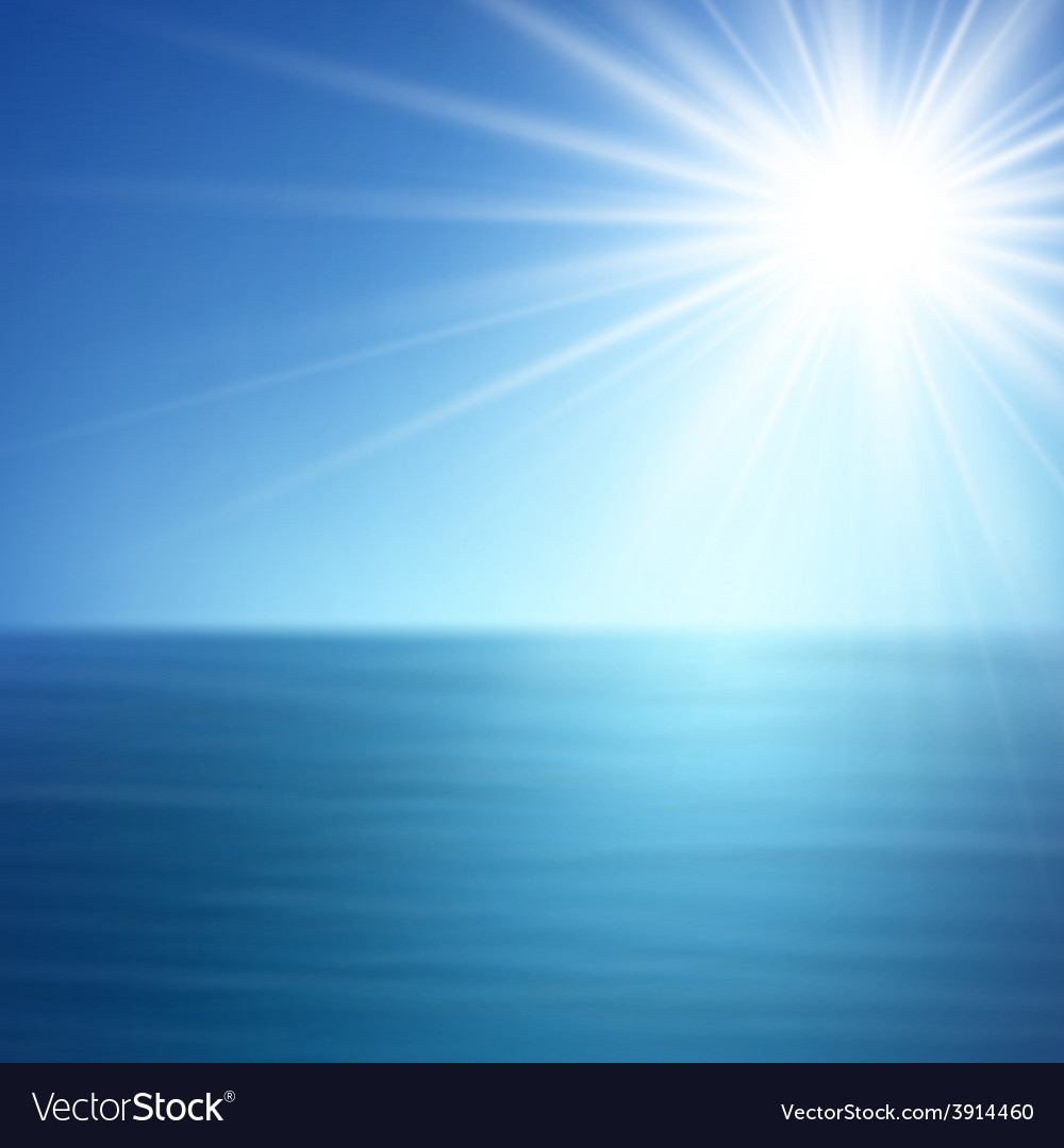 Tropical sunny summer sea vector | Price: 1 Credit (USD $1)