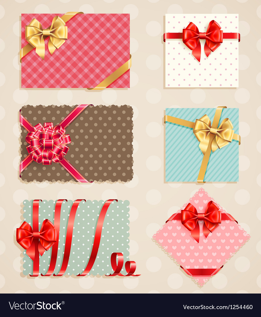 Vintage bow collection1 vector | Price: 3 Credit (USD $3)