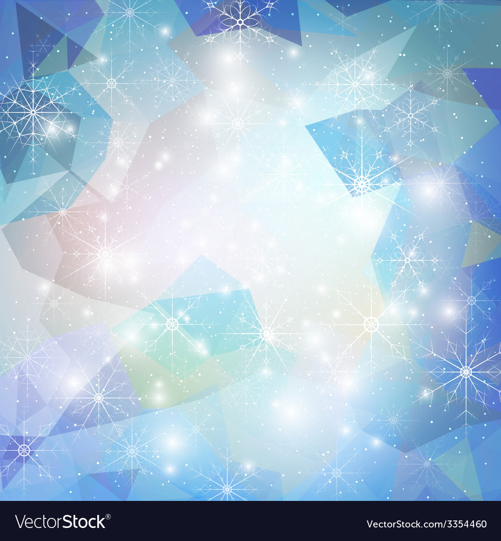 Winter background with snowflakes abstract winter vector   Price: 1 Credit (USD $1)