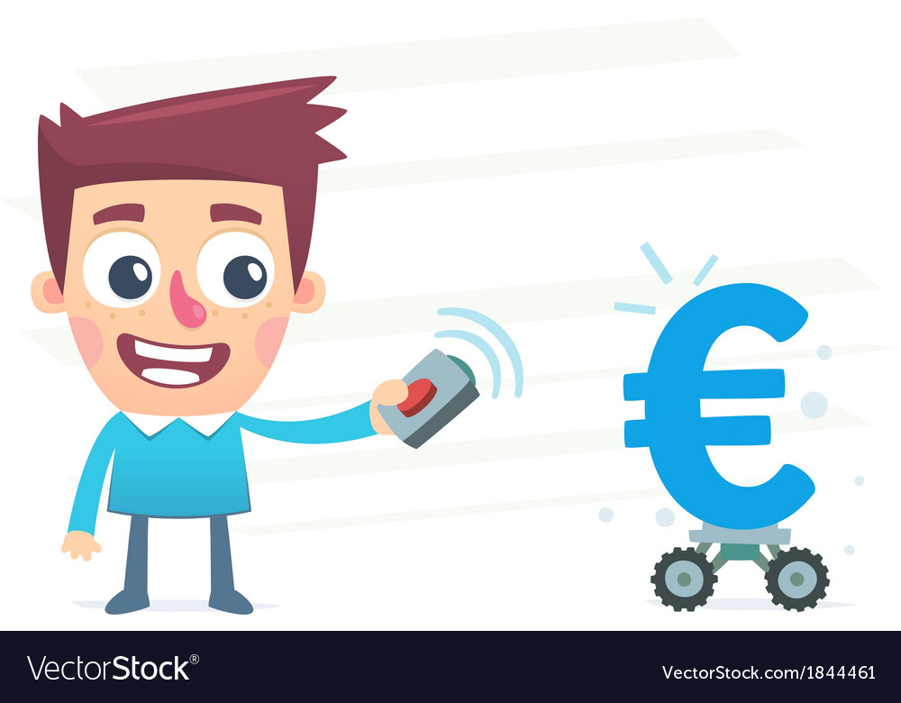 Automated money earnings vector | Price: 1 Credit (USD $1)
