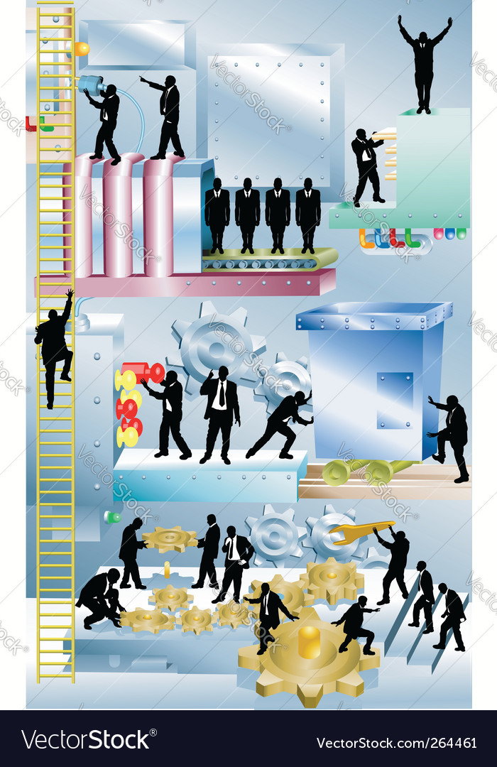 Business machine business concept illustration vector | Price: 1 Credit (USD $1)
