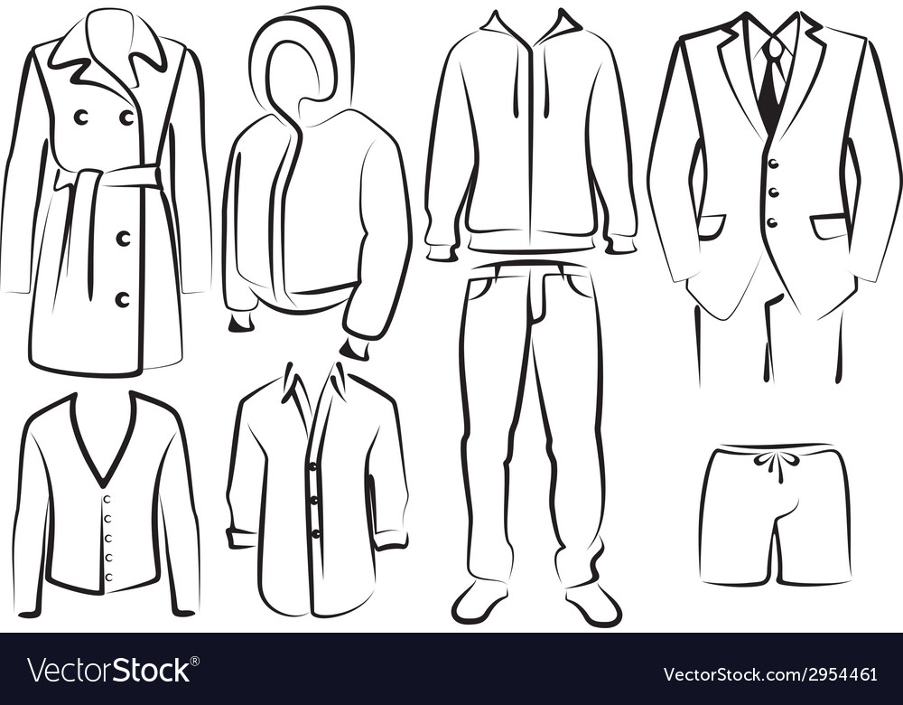 Collection of mens clothes vector | Price: 1 Credit (USD $1)