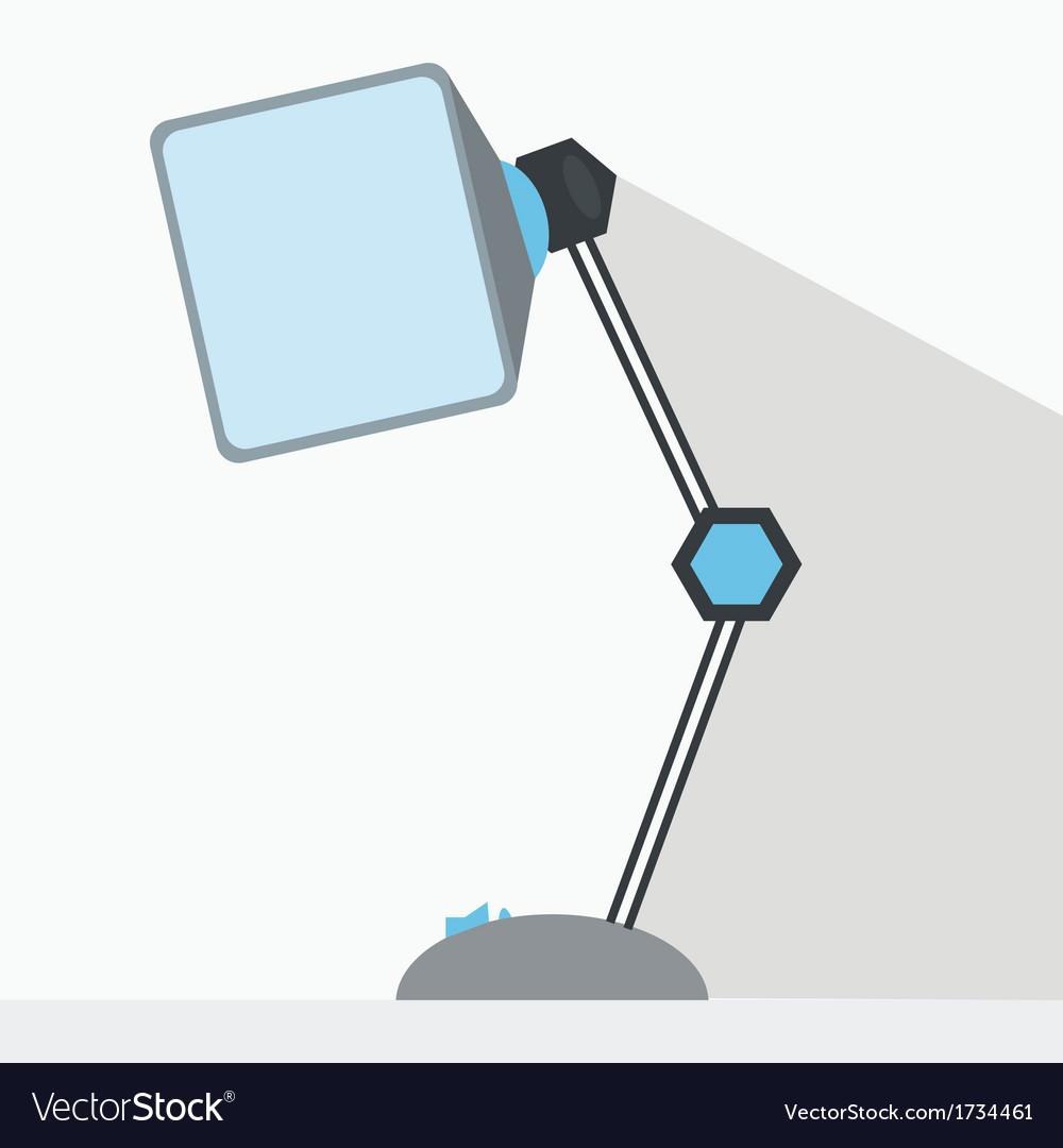 Desk lamp vector | Price: 1 Credit (USD $1)