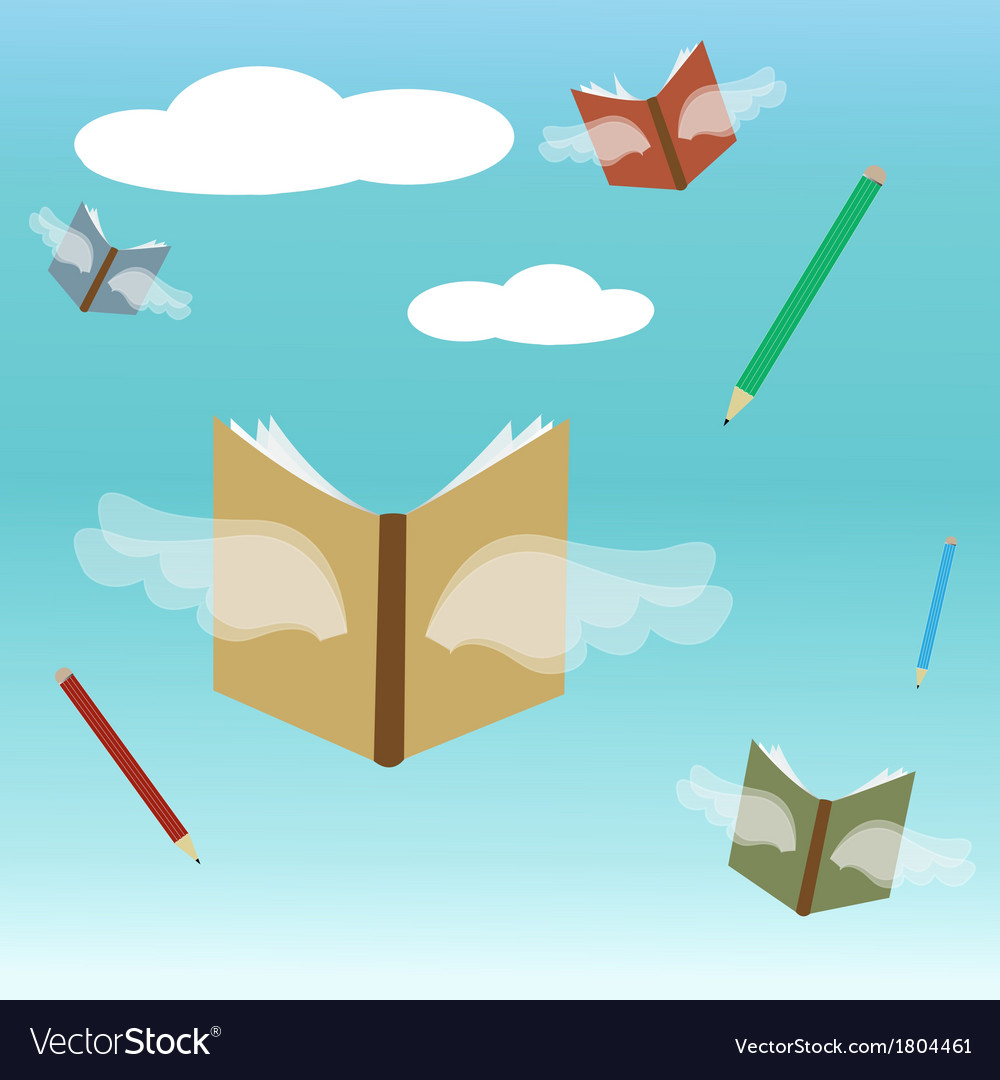 Fly back to school vector | Price: 1 Credit (USD $1)