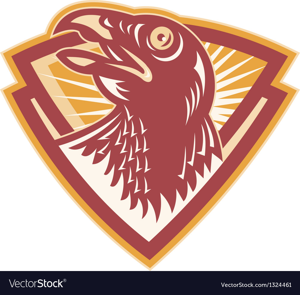 Hawk falcon bird head shield vector | Price: 1 Credit (USD $1)