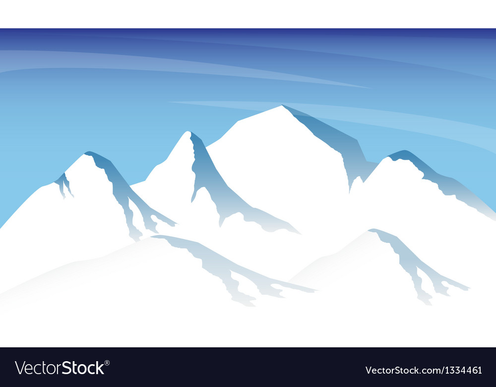 Ice mountain vector | Price: 1 Credit (USD $1)