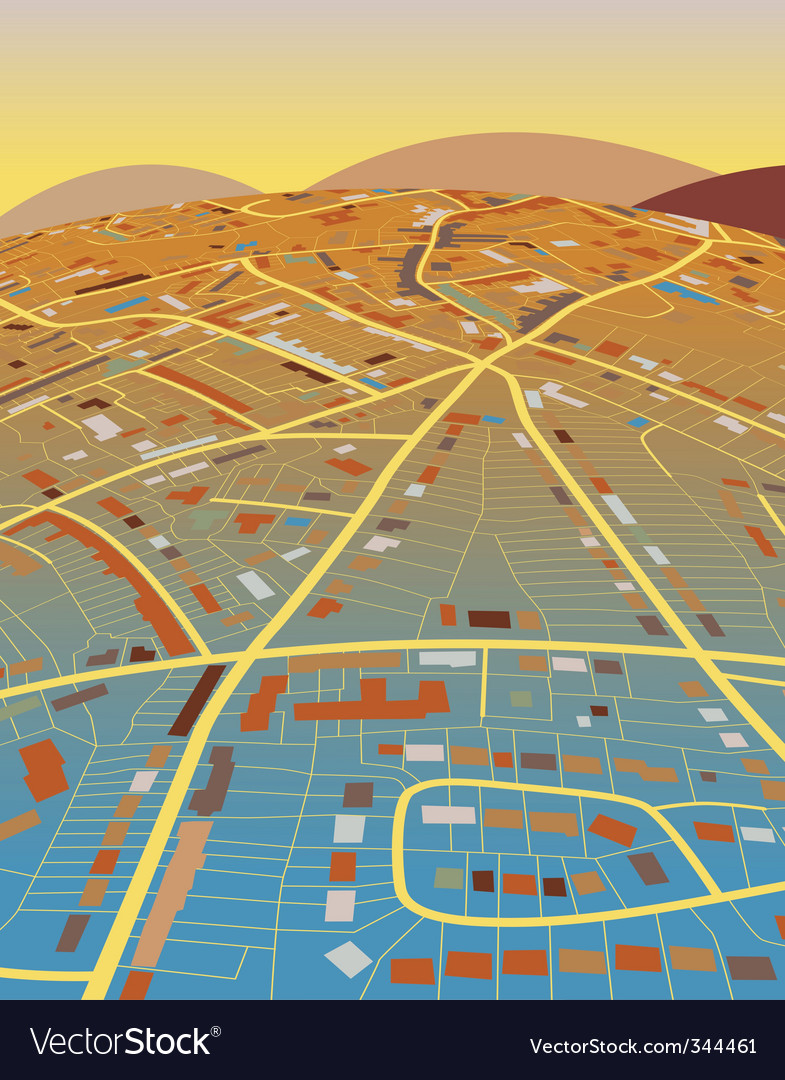 Land map vector | Price: 1 Credit (USD $1)