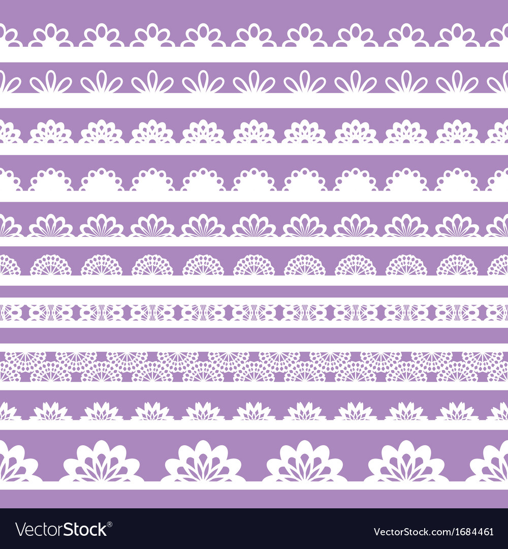 Set of beautiful lace trims vector   Price: 1 Credit (USD $1)