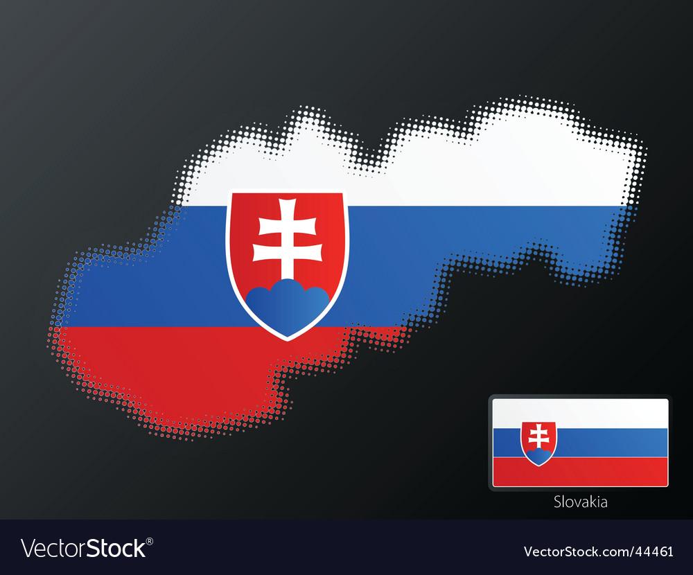 Slovakia map vector | Price: 1 Credit (USD $1)