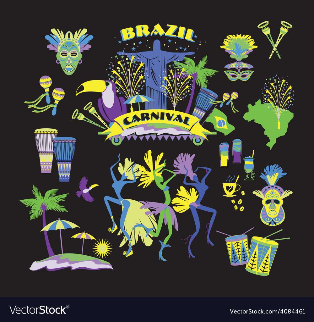 Traditional brazilian carnival vector | Price: 3 Credit (USD $3)