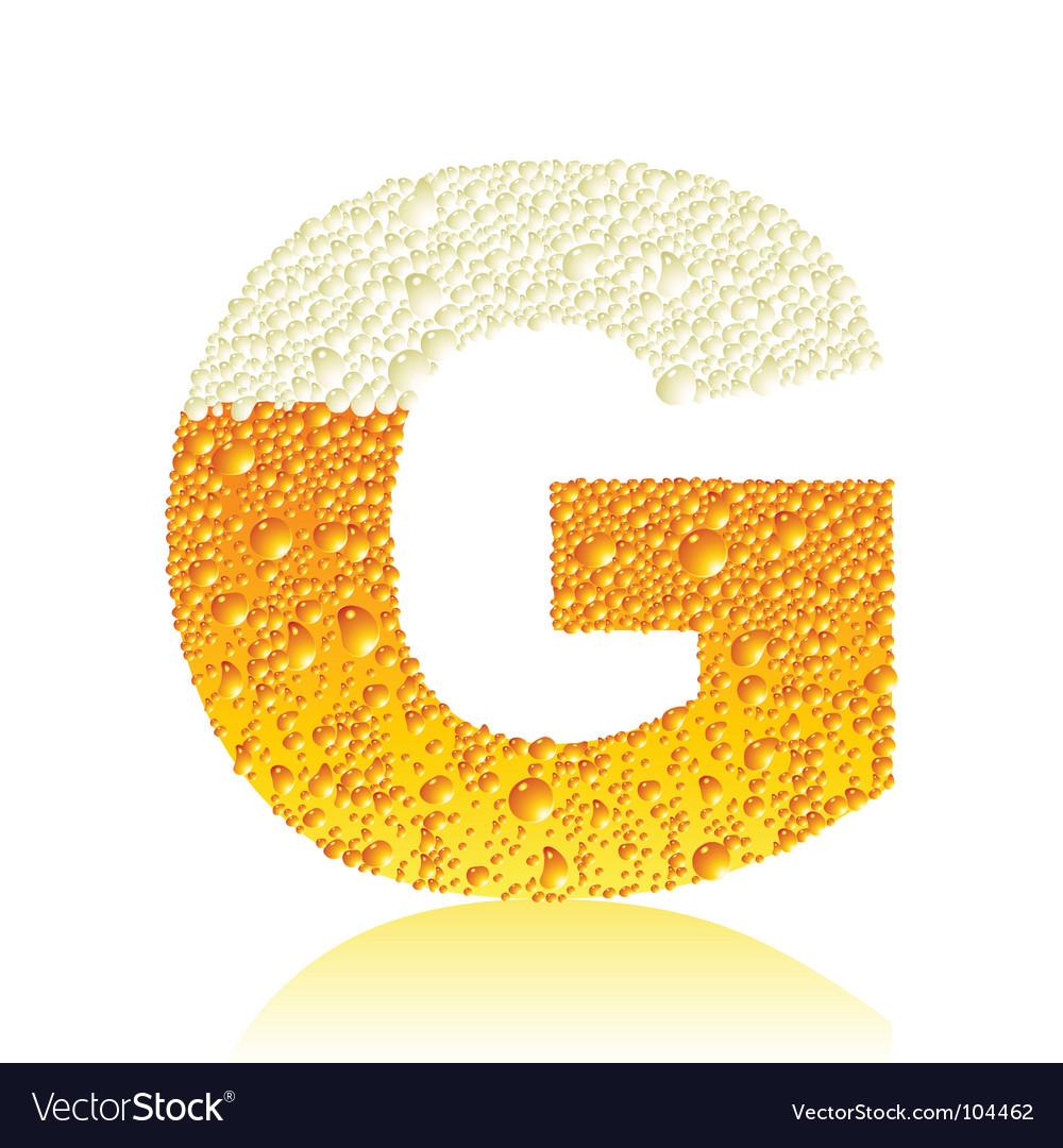 Alphabet beer g vector | Price: 1 Credit (USD $1)