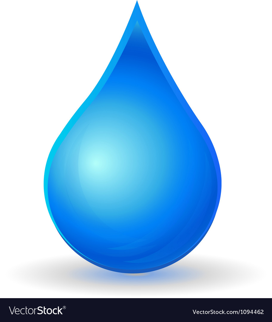 Drop of water with vivid color vector | Price: 1 Credit (USD $1)