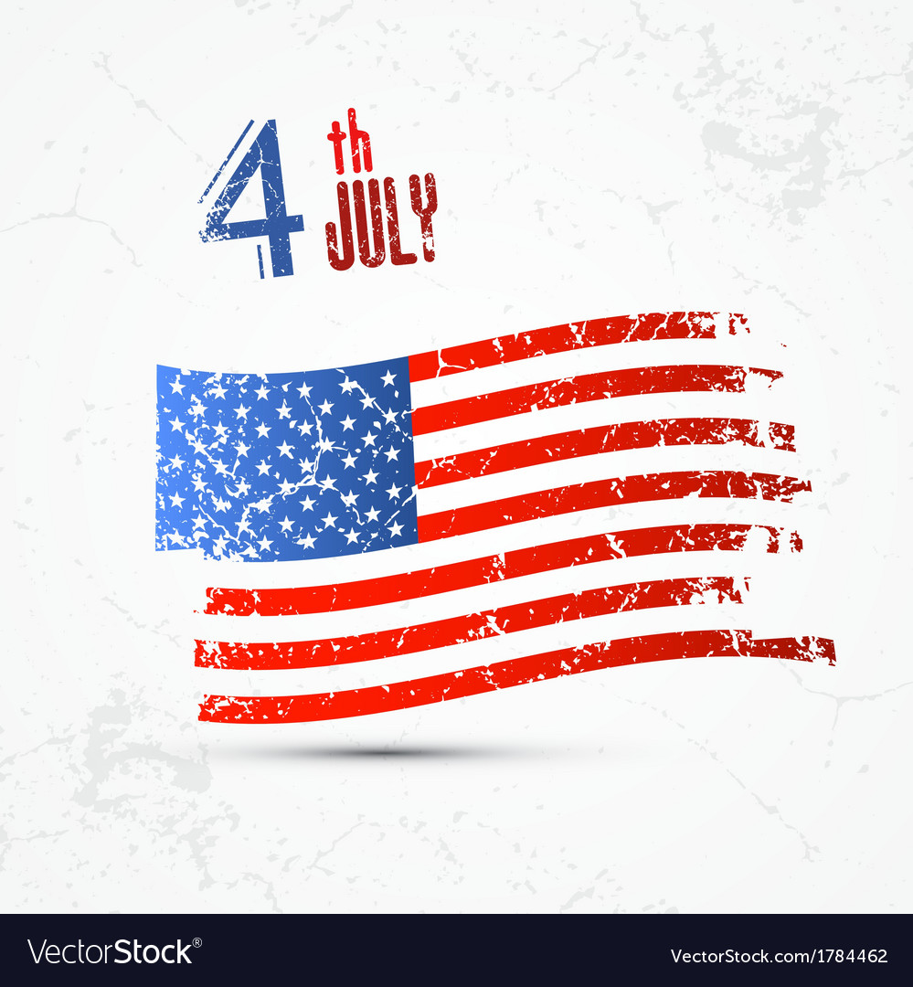 Fourth of july independence day american flag vector | Price: 1 Credit (USD $1)