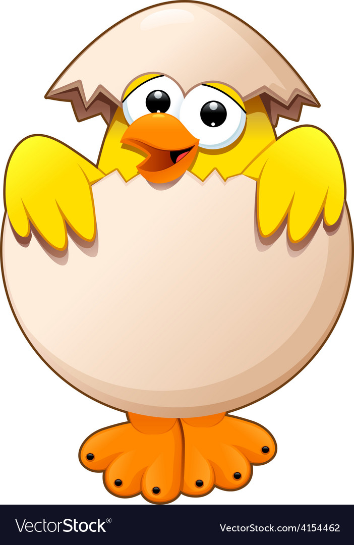 Funny chick in the egg vector | Price: 1 Credit (USD $1)