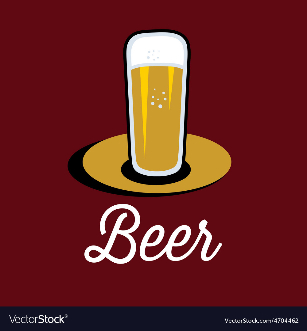 Glass of beer on the table vector | Price: 1 Credit (USD $1)
