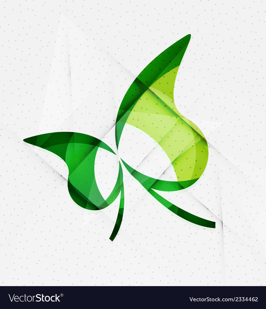 Green eco unusual background concept vector | Price: 1 Credit (USD $1)