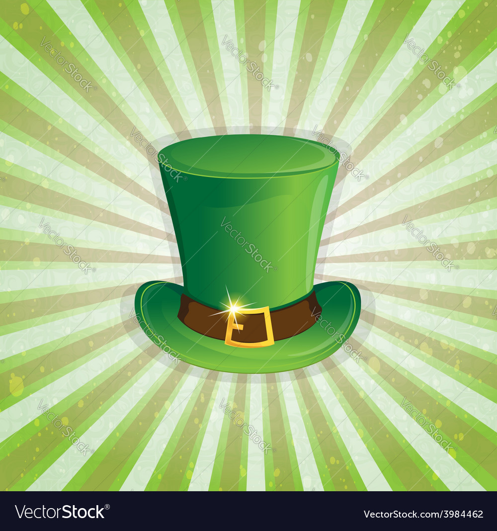 Leprechaun hat with gold buckle vector | Price: 1 Credit (USD $1)