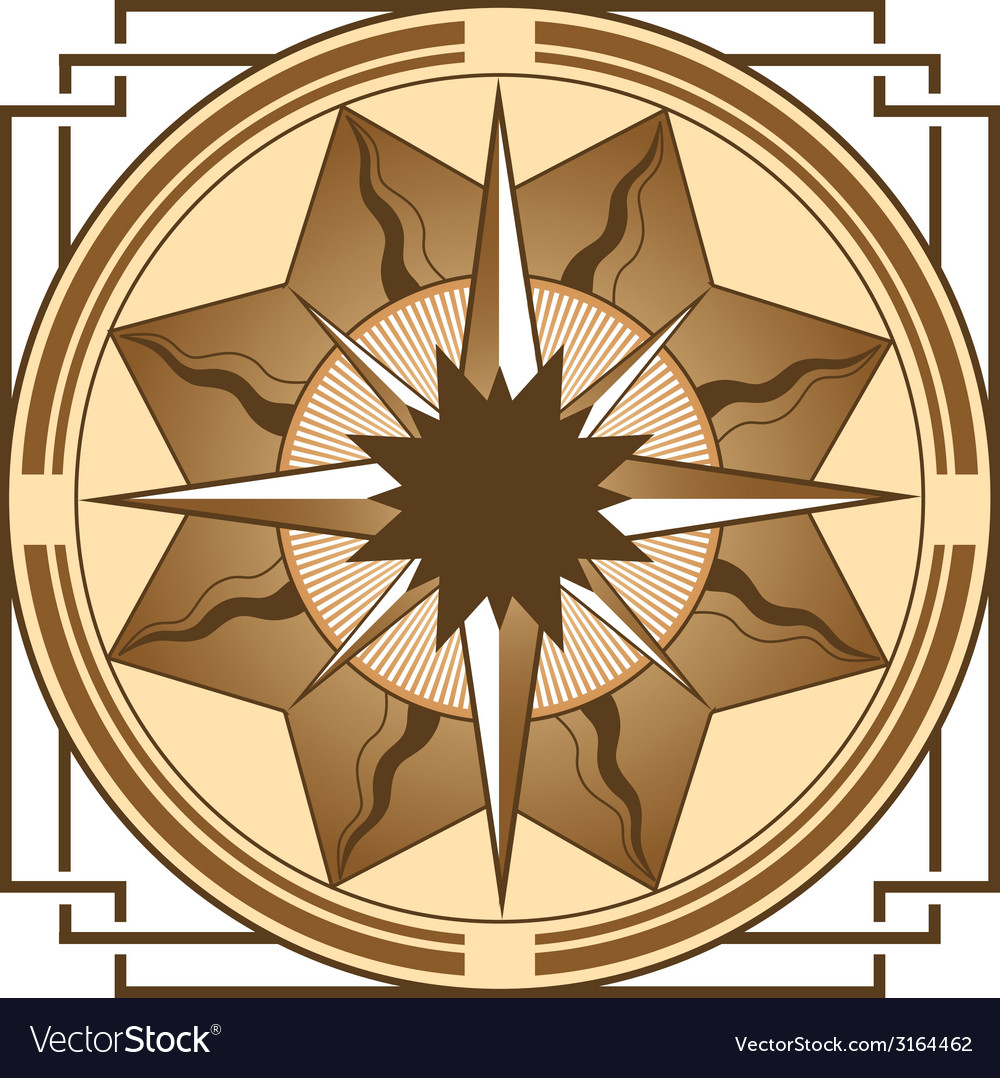 Medieval compass vector | Price: 1 Credit (USD $1)