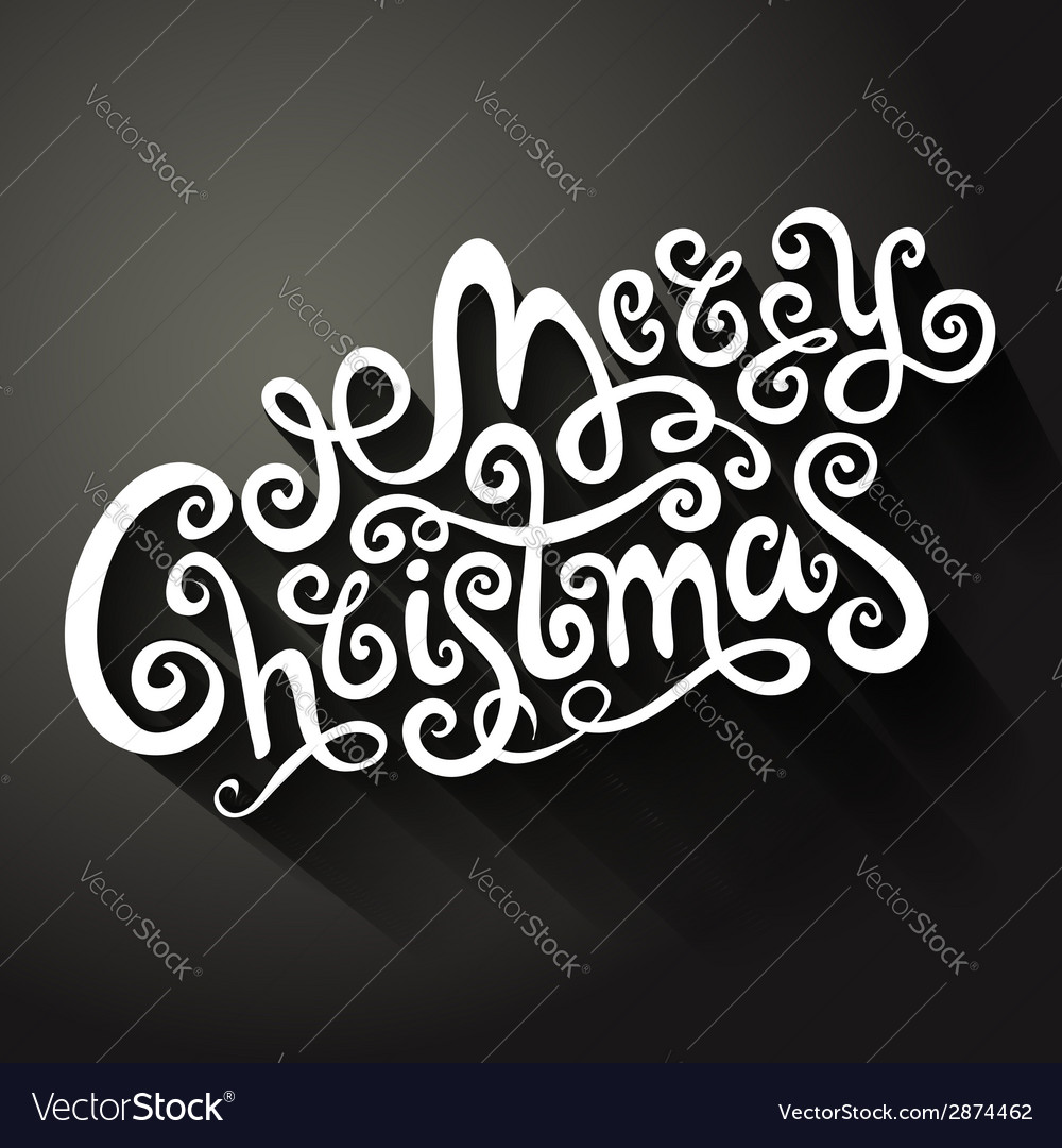 Merry christmas decorative hand drawn card vector | Price: 1 Credit (USD $1)