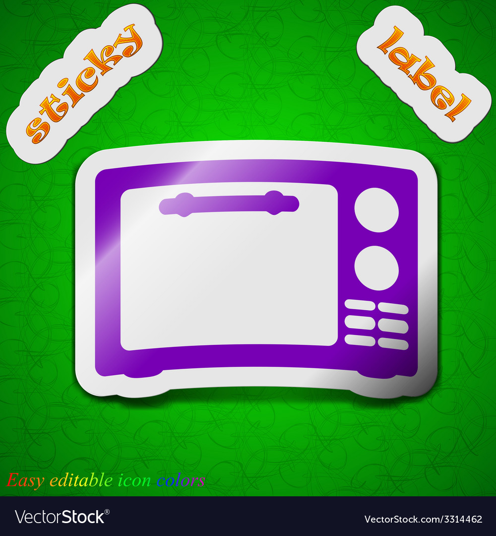 Microwave oven icon sign symbol chic colored vector | Price: 1 Credit (USD $1)