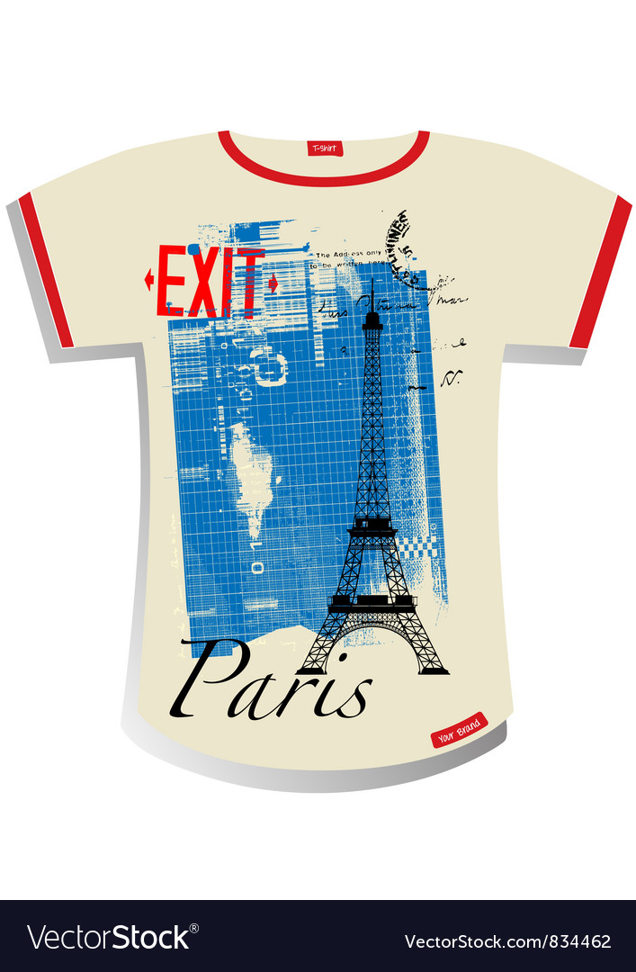 Paris t shirt vector | Price: 1 Credit (USD $1)