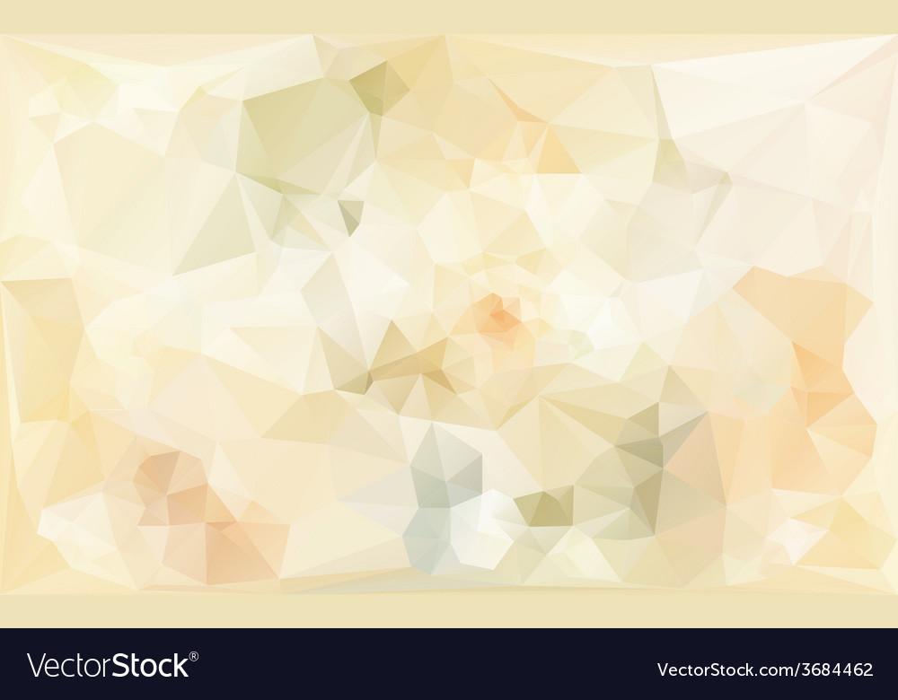 Poligonal abstract background in beige tones vector | Price: 1 Credit (USD $1)