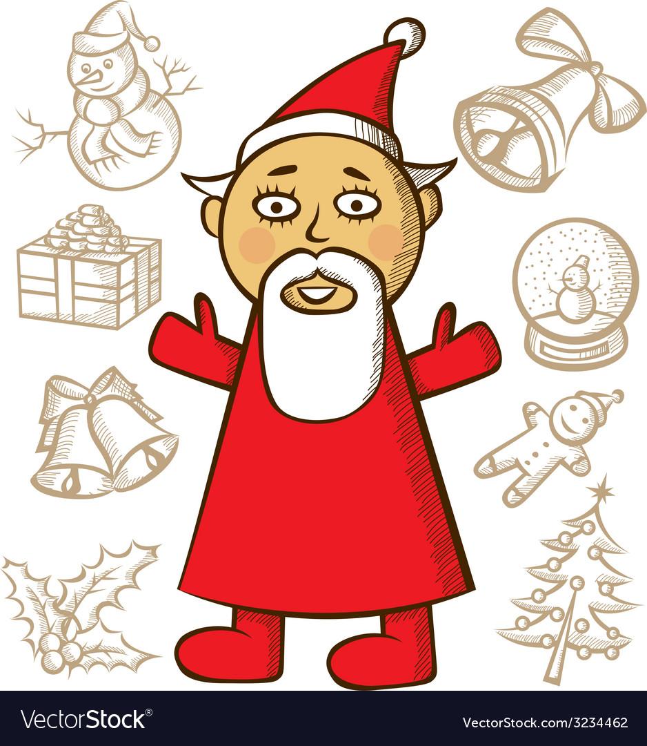 Santa vector | Price: 1 Credit (USD $1)