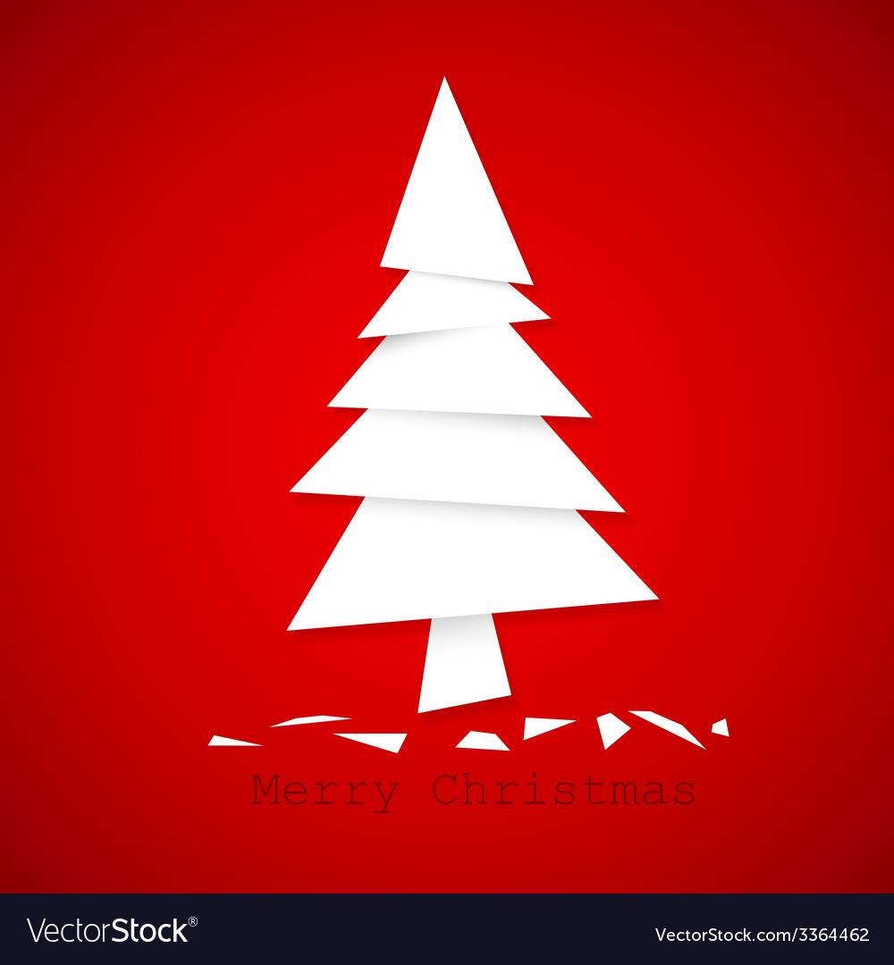Simple paper christmas tree vector | Price: 1 Credit (USD $1)