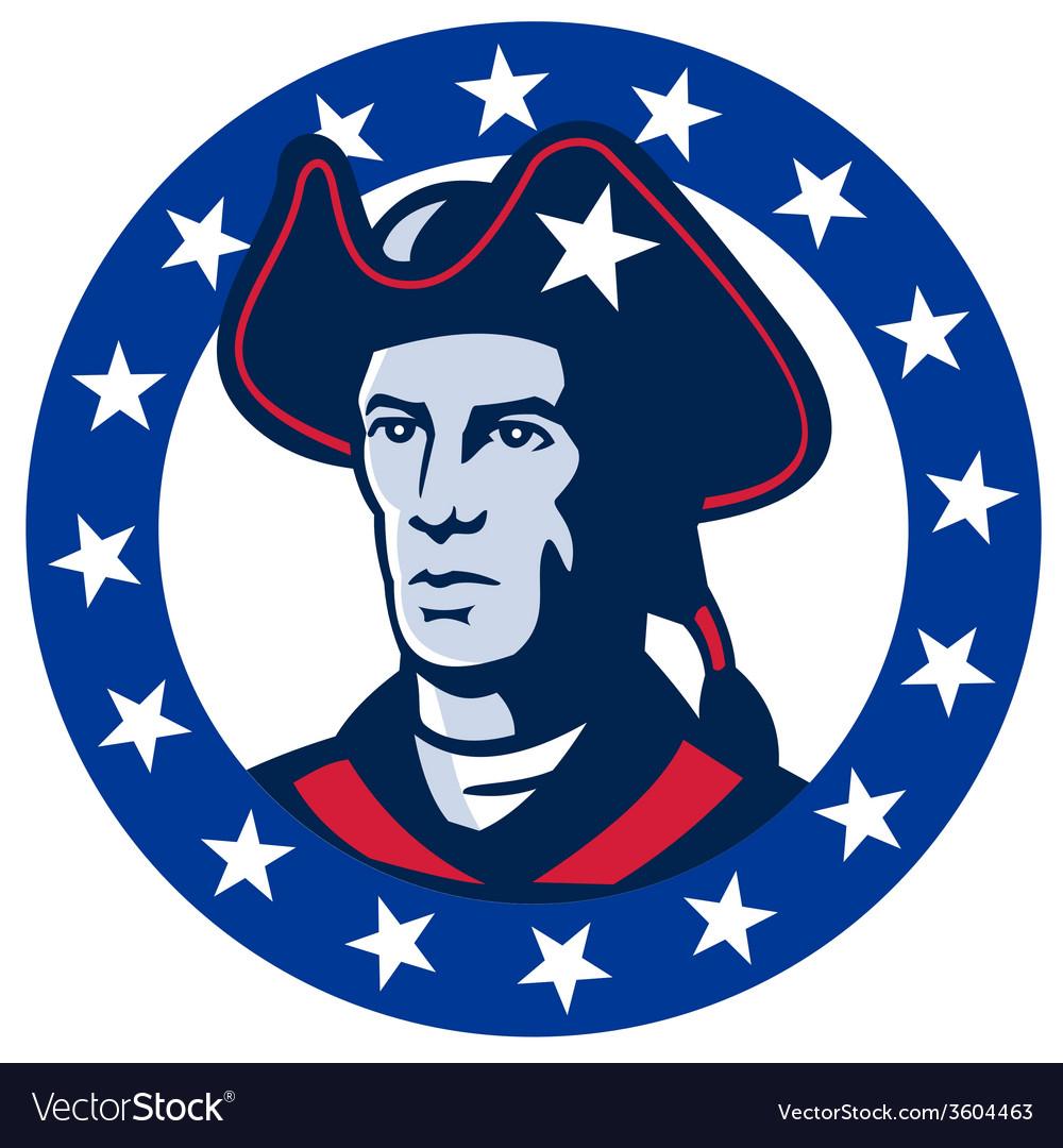 American patriot minuteman stars retro vector | Price: 1 Credit (USD $1)