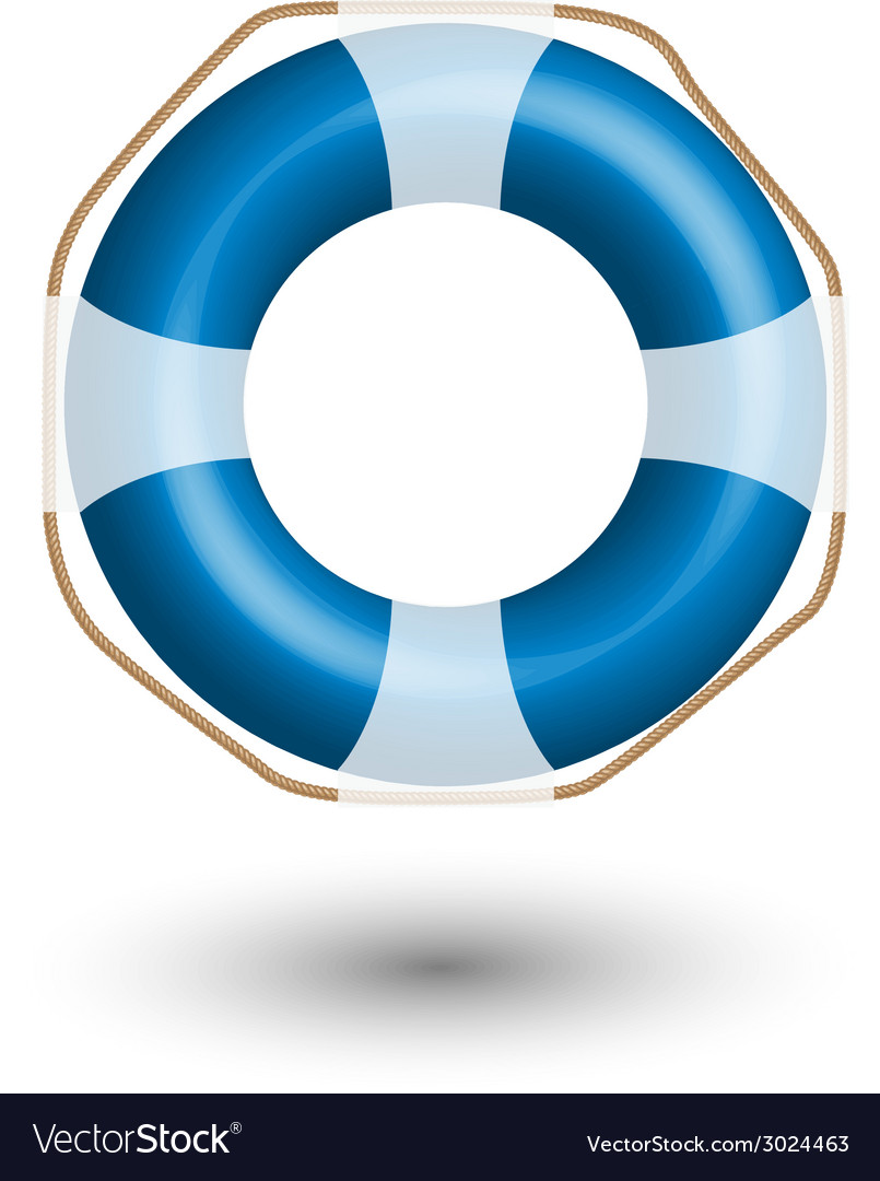 Blue life buoy vector | Price: 1 Credit (USD $1)