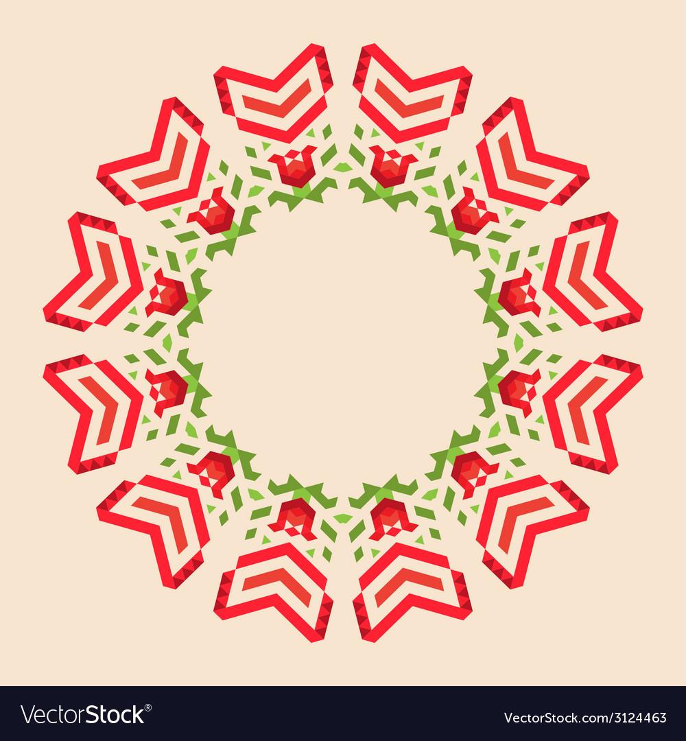 Circular geometric background vector | Price: 1 Credit (USD $1)