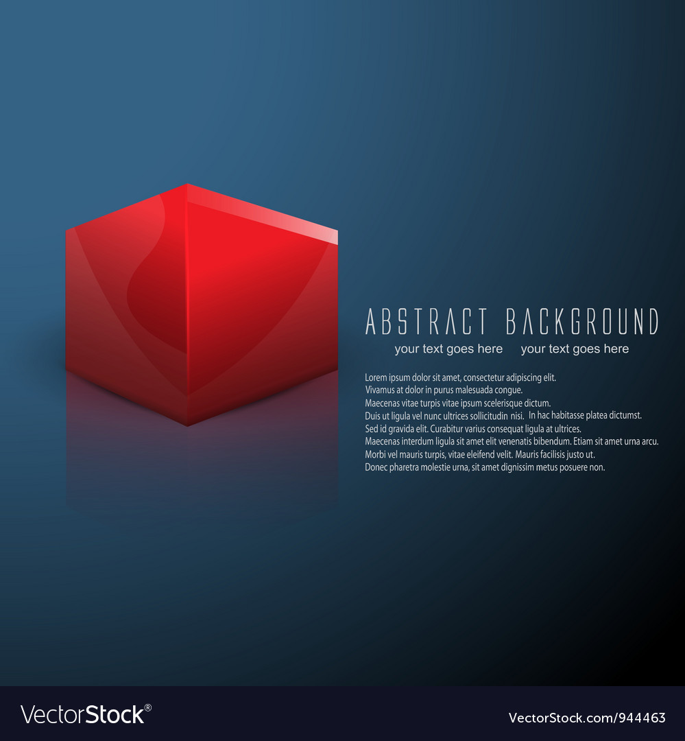 Cube business background vector | Price: 1 Credit (USD $1)