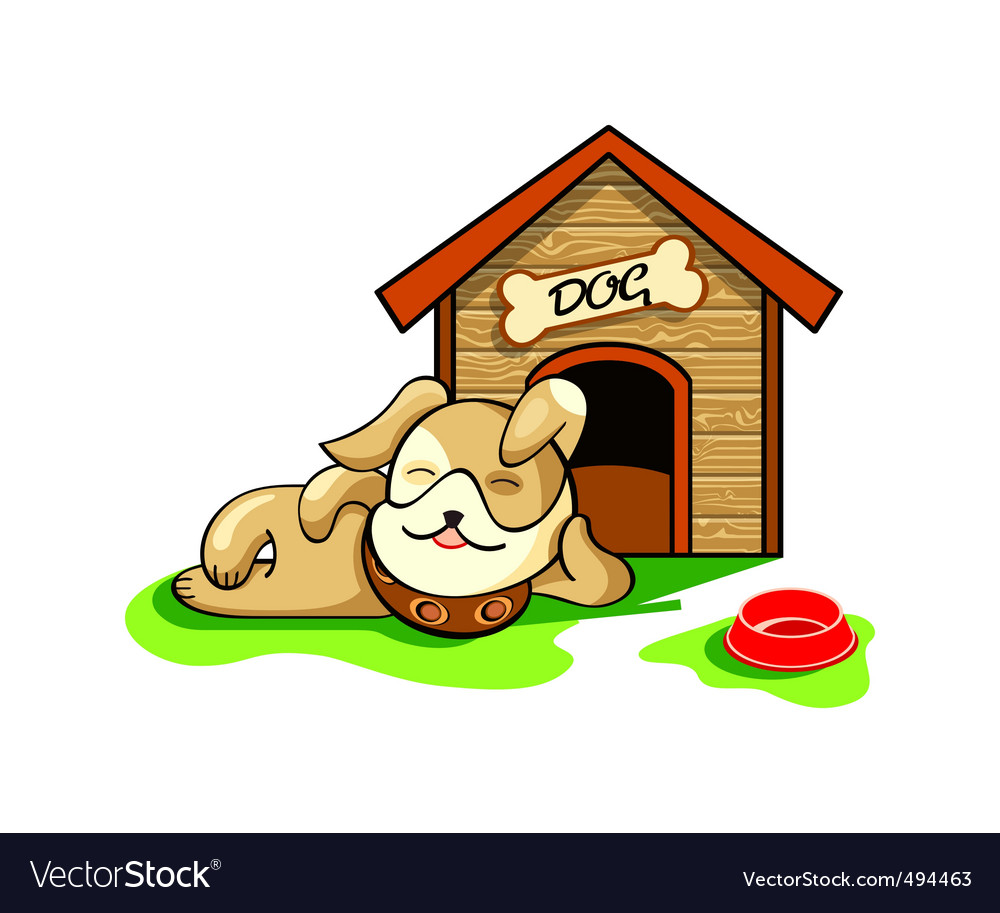 Dog house vector | Price: 3 Credit (USD $3)