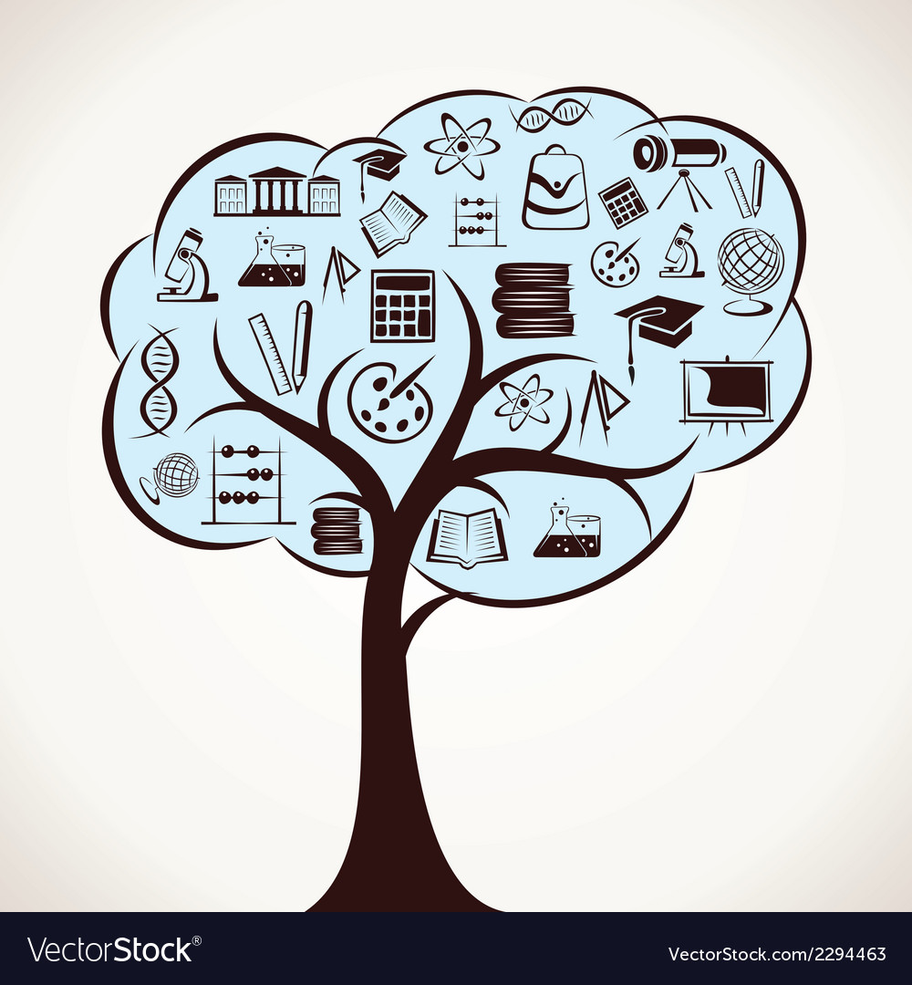 Educational icon tree stock vector | Price: 1 Credit (USD $1)