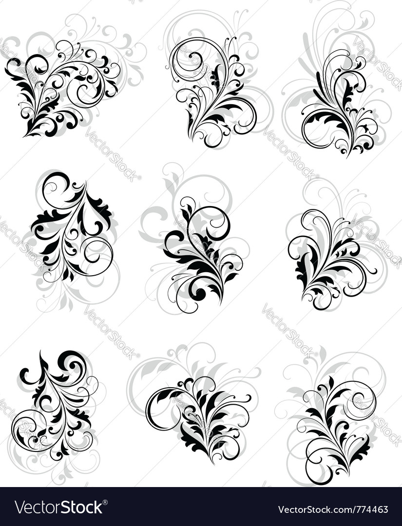 Flourish elements vector | Price: 1 Credit (USD $1)