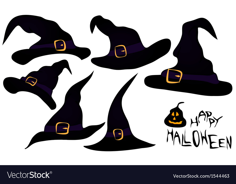 Halloween hats vector | Price: 1 Credit (USD $1)