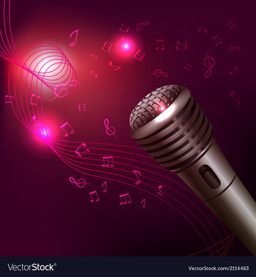 Music background with microphone vector | Price: 1 Credit (USD $1)