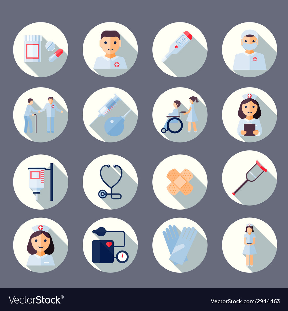 Nurse icon set vector | Price: 1 Credit (USD $1)